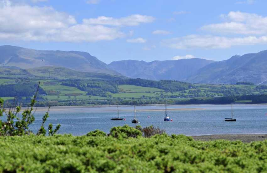 Snowdon view from Beaumaris beach