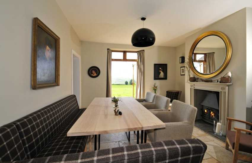 Luxury holiday house Wales - dining