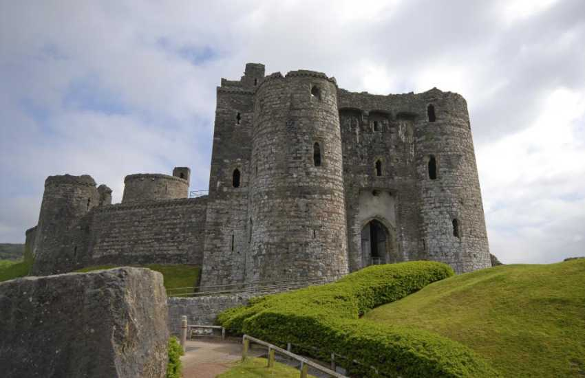 Kidwelly Castle - a Norman castle overlooking the River Gwendraeth