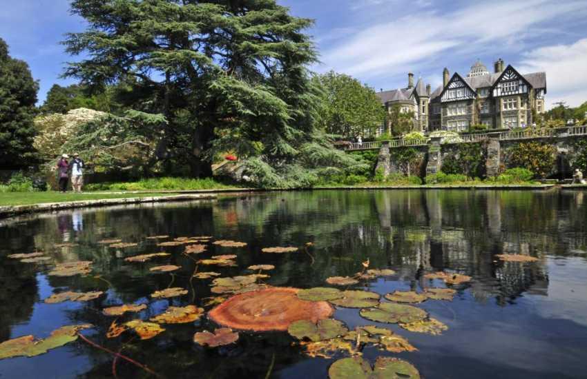 Bodnant Garden lily pond