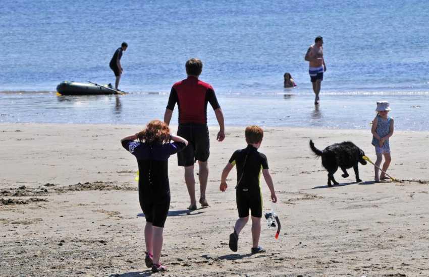 Aberdaron beach, a great family destination all year around