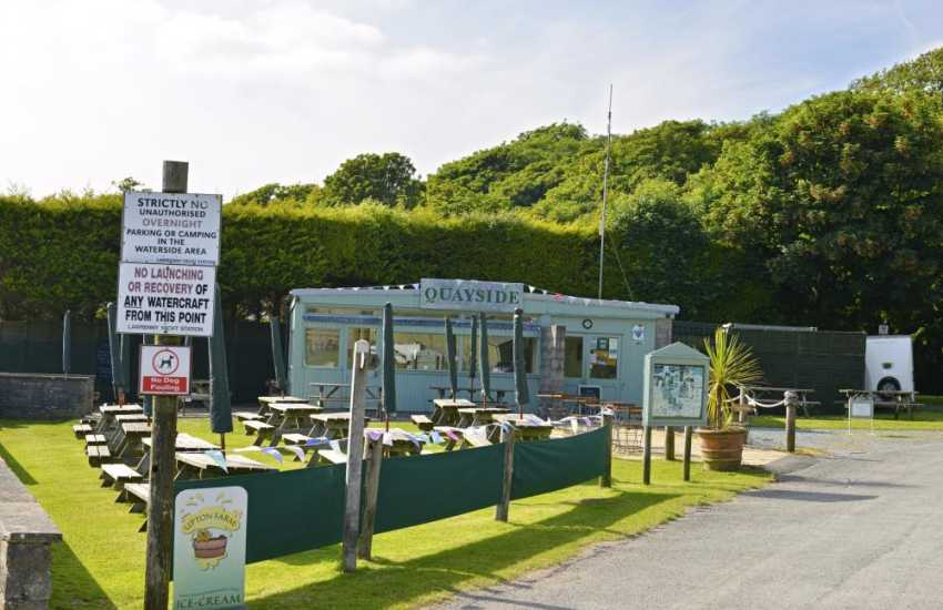 Enjoy delicious homemade food at the award winning Quayside Cafe Bar in Lawrenny