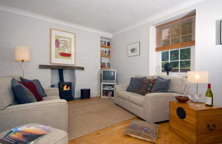 Cottage in The Pembrokeshire National Park - cosy lounge with log burning stove