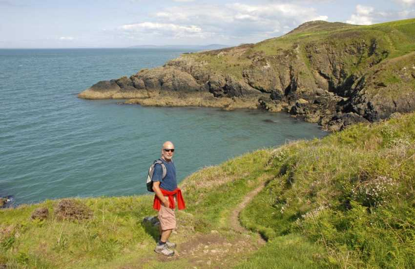 Walking on the Cardigan Bay Heritage Coast - the path is now part of the All Wales Coastal route