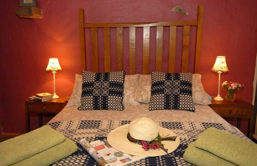 Rural retreat Carmarthenshire - hand crafted double bed