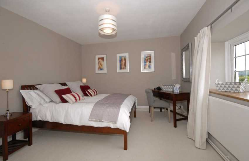Luxury Carmarthenshire holiday home - kingsize  bedroom with estuary views