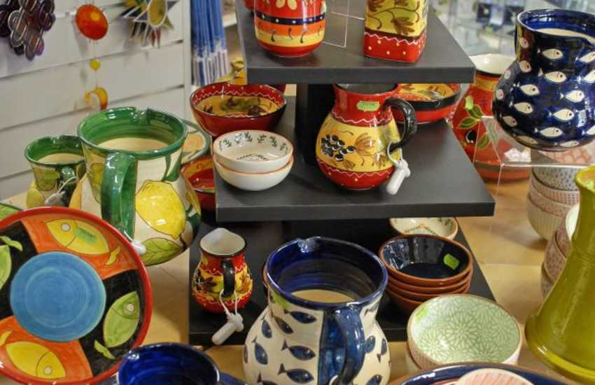 St Davids has a variety of art and craft shops with some beautiful pottery