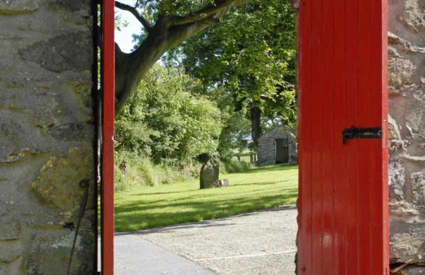 Ty Llwyd Farm has beautiful grounds for you to enjoy