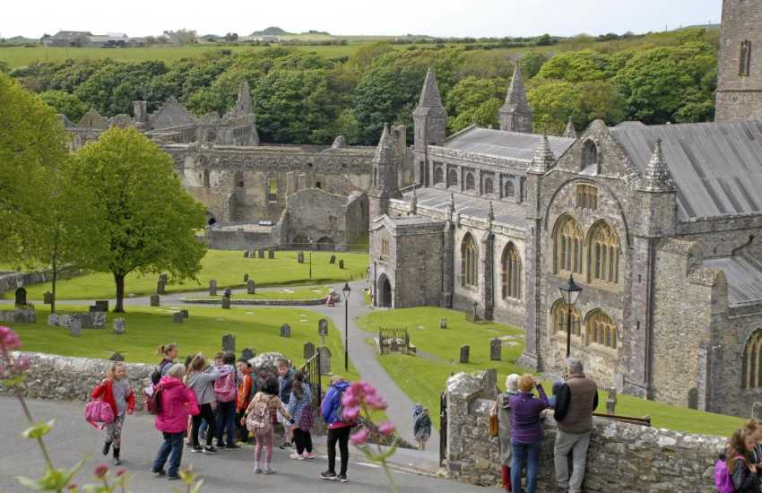 Magnificent St Davids Cathedral and the ruined Bishops Palace lie at the heart of Britain's smallest city
