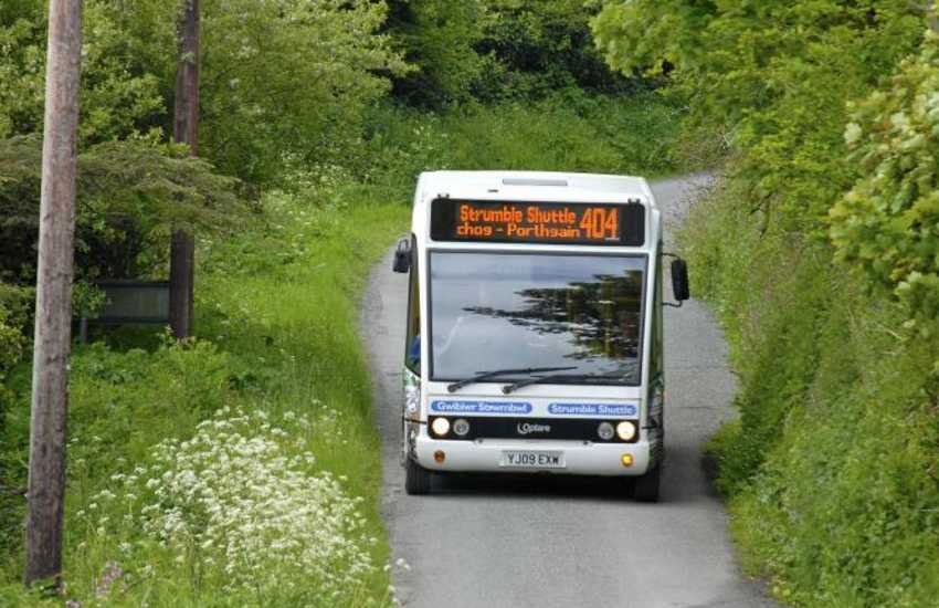 Hop on board The Strumble Shuttle Coastal Bus Service connecting Porthgain with St Davids and Fishguard and all the accessible stops on the coast in between