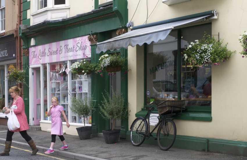 Llandovery High Street shops