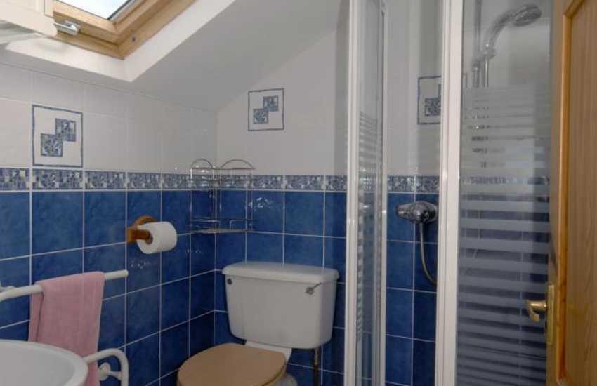 Broad Haven holiday cottage - master en-suite shower