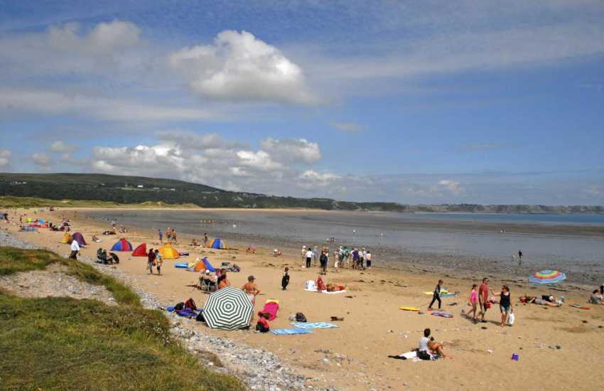 Oxwich Bay - miles of golden sand backed by dunes and a haven for all types of watersports including, diving, sailing, water-skiing and windsurfing