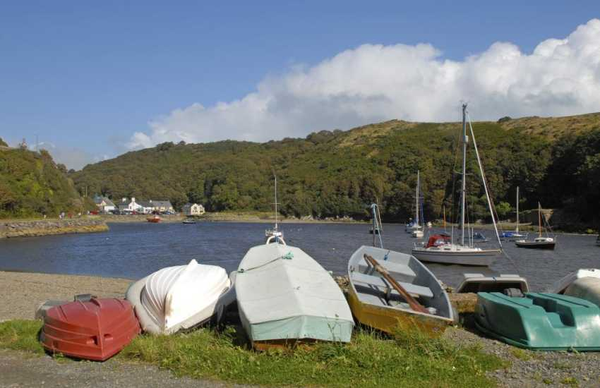 Solva Harbour - walk the tow path alongside yachts of all shapes and sizes on the river then enjoy fish and chips in 'Number 35'