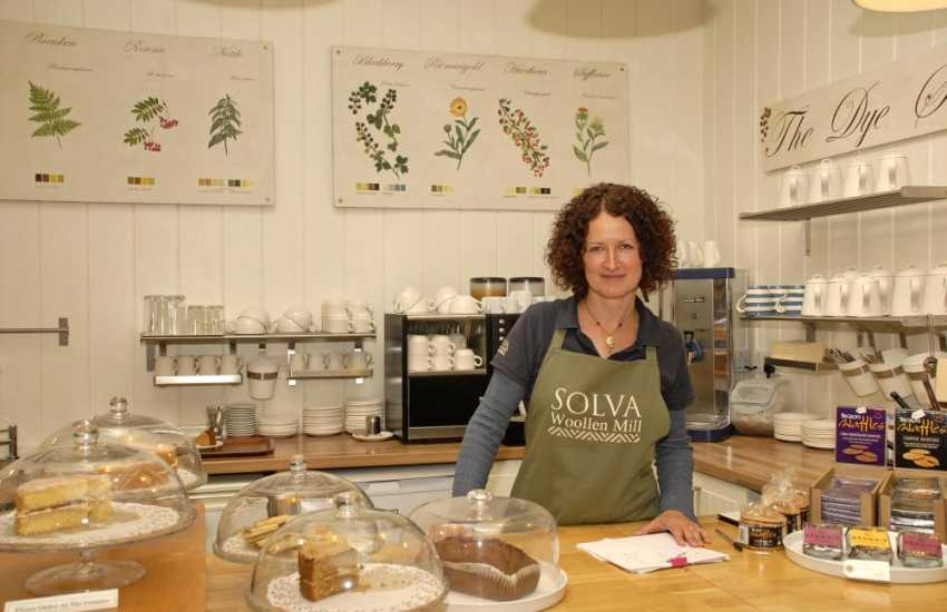 Do visit Solva Woollen Mill, the oldest working mill in Pembrokeshire, and take tea in 'The Dye Shed Cafe' - delicious home made cakes all the year round