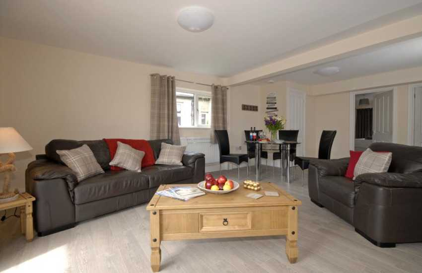 Holiday apartment in St Davids with open plan spacious living/dining/kitchen area
