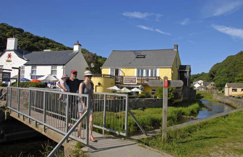 The Harbour Inn and 'Number 35', Solva both sit alongside the river - lovely at the end of the day for a pint or delicious homemade ice cream