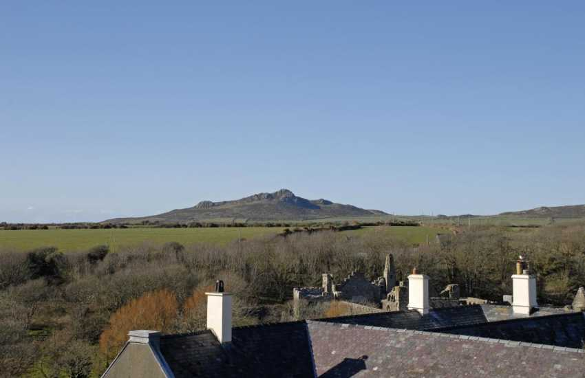 Views to Carn Llidi from this restored 18th Century Granary