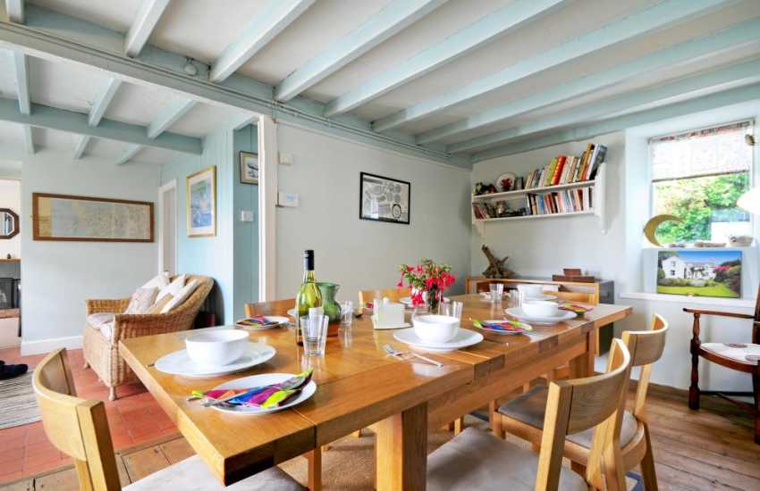 Dining room in North Wales holiday cottage