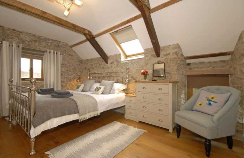 Pembrokeshire Grade II listed home sleeps 6 - king size master en-suite bedroom
