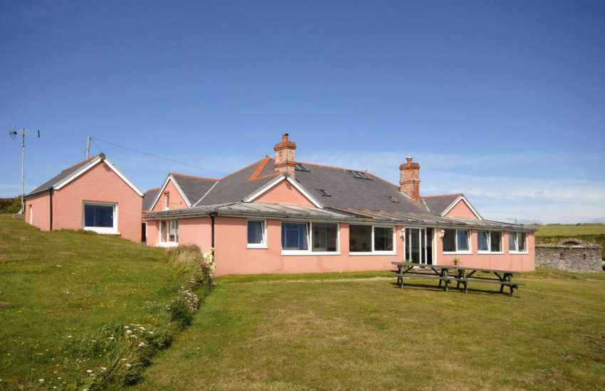 Large holiday bungalow with stunning sea views