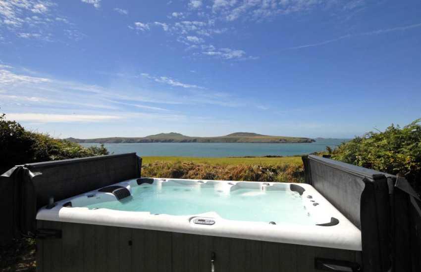 St Davids Peninsula St Justinian's-hot tub