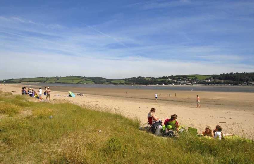 Llansteffan Beach is Wales' best kept secret and lies on the banks of the Towy Estuary