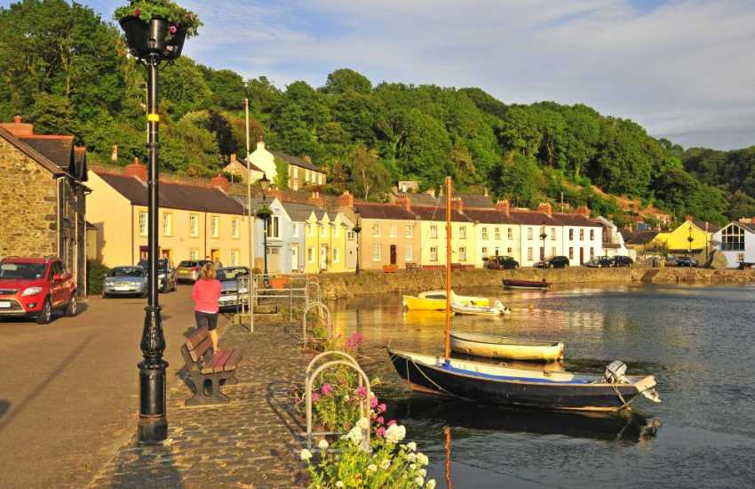 Lower Town Fishguard - great for crabbing off the wall or a quiet evening stroll