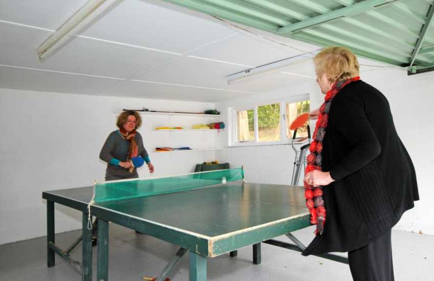 Harlech holiday cottage - games room