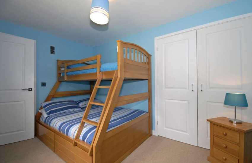 North Pembrokeshire holiday home sleeping 8 - triple sleeper bunk bedroom