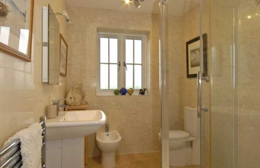 Solva holiday home - master en-site shower