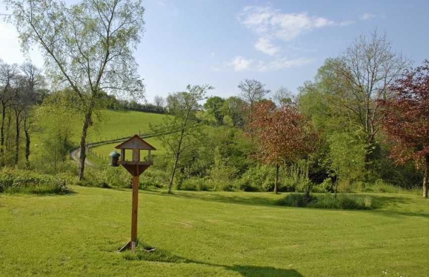 Charlottes Barn - a bird watchers paradise in lush Carmarthenshire countryside