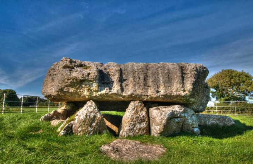 Cromlech at Din Lligwy, near Moelfe Anglesey