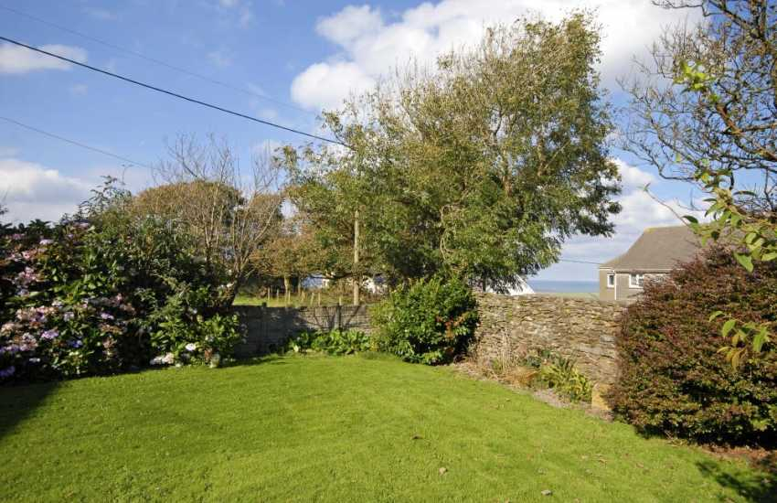 Pet friendly Abercastle holiday home - walled garden with glimpses of the sea