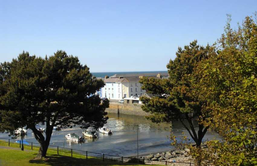 Aberaeron's picturesque harbour is only a few minutes stroll away