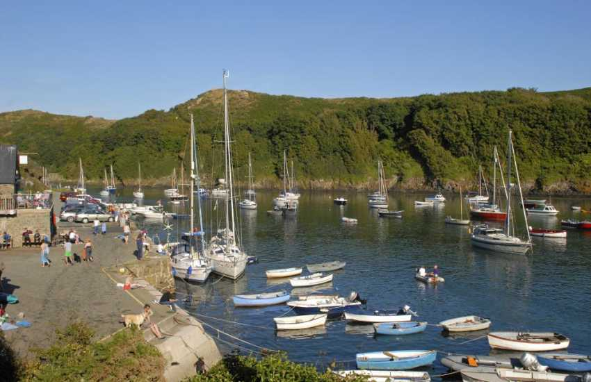 Solva, a picturesque harbour village with craft shops, galleries, restaurants, pubs and places to eat