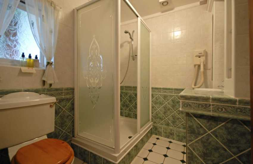 Solva holiday cottage - ground floor master en-suite shower