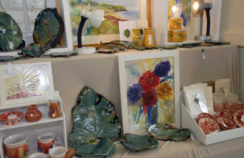 St Davids has a variety of interesting galleries, art and craft shops in which to browse