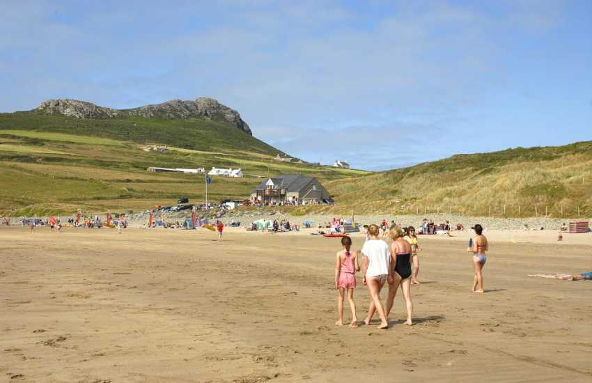 Whitesands Beach (Blue Flag) is one the finest beaches Pembrokeshire -  great for all kinds of water sports and beach games