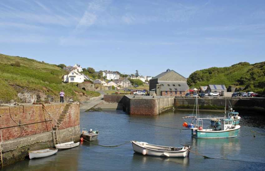 Porthgain - a tiny sheltered harbour village with two art galleries, gift shop, pub and an award wining seafood restaurant