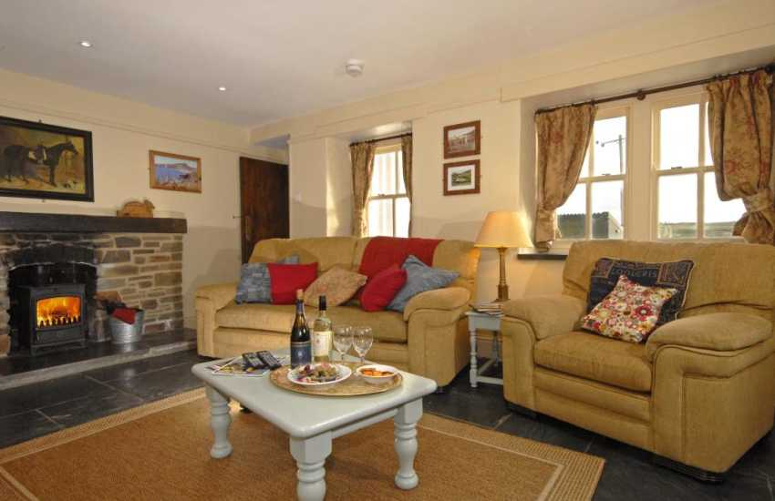 Coastal cottage near St Davids  - lounge with Wi-Fi and log burner