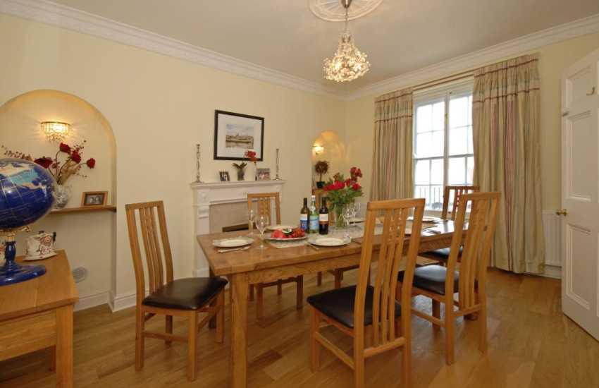 Aberaeron town house - elegant dining room
