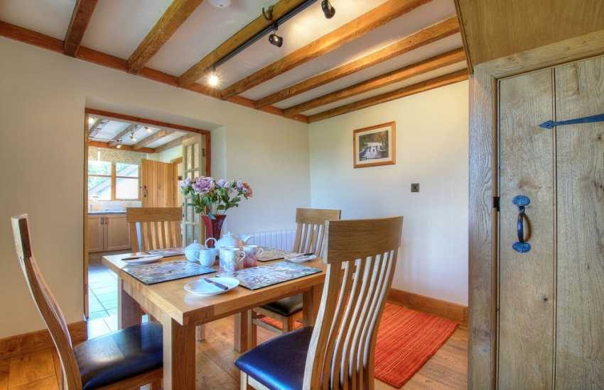 Rhayader holiday cottage - dining