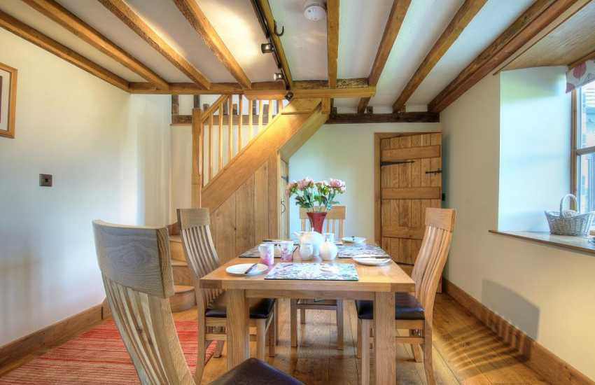 Mid Wales pet friendly cottage - dining