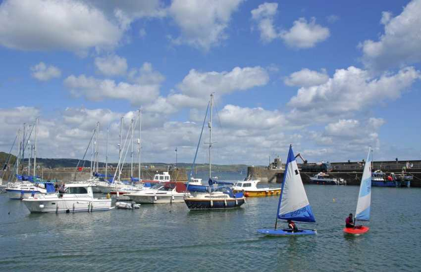 Picturesque Saundersfoot Harbour - regular boat trips out into the bay include sport fishing and coastal cruises
