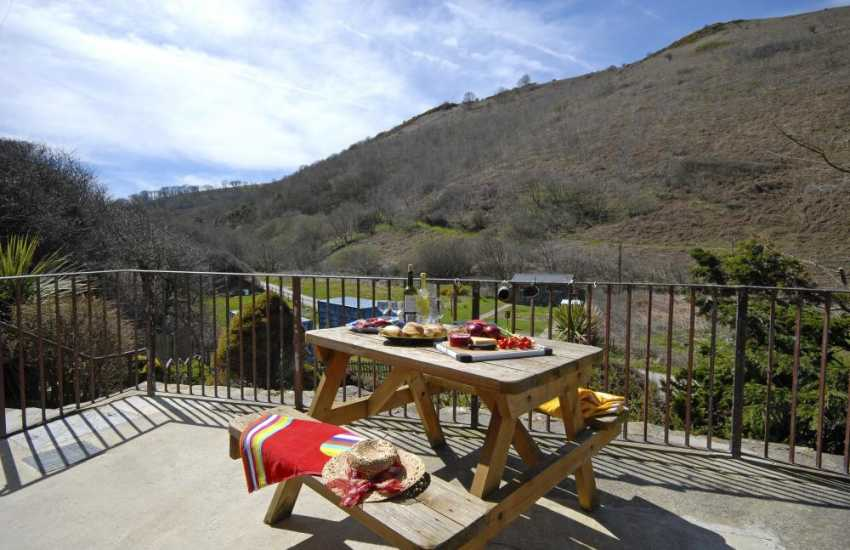 Cwm Tydu Valley - Enjoy the everchanging views all year round from the terrace