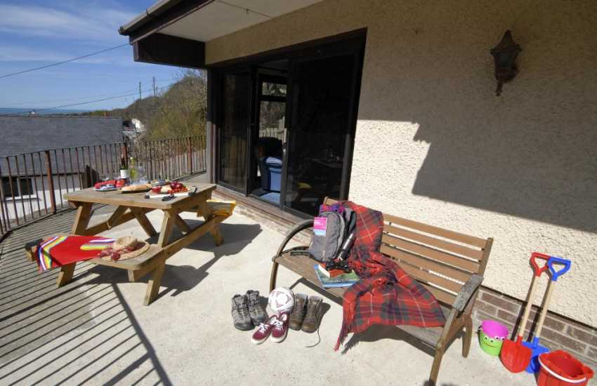 Holiday home near Aberporth - terrace for alfresco dining