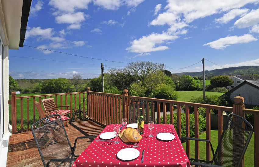 North Wales holiday house balcony