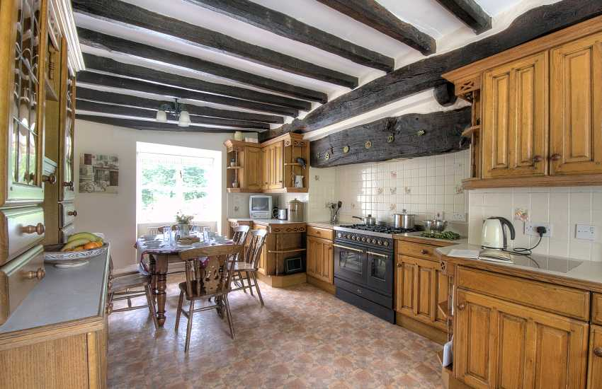 Dining area in Welsh cottage kitchen