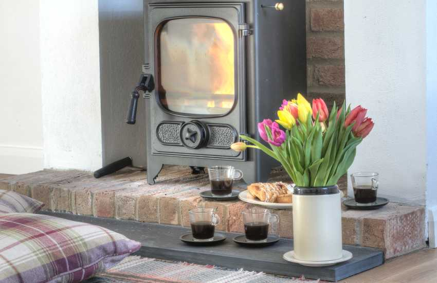 Pembrokeshire holiday cottage - wood-burner